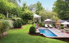 10 Amazing Garden Spaces Finished pool: the quick Pool solution Swimming P. Sloped Backyard Landscaping, Terraced Backyard, Sloped Garden, Backyard Pool Designs, Swimming Pools Backyard, Backyard Pergola, Garden Pool, Terrace Garden, Garden Spaces