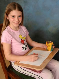 Small lap desk: Great for kids in the car or doing homework and fun activities at home.