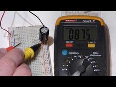 Multimeter measurements of voltage and current of slowly charging electr...