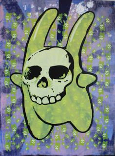 Deth Bunny 2020 is one of the first works I made using a large screen.