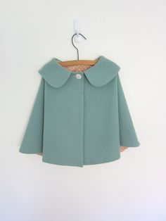 Childs Wool Cape - peter pan collar in pink would add colour to autumn