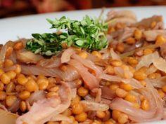 Receta | Lentejas salteadas con setas y cebolleta - canalcocina.es