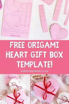 Click through to learn how to make your own adorable origami heart gift box - a wonderful craft idea & the perfect gift packaging for Valentine's day! #template #freetemplate #crafts #easycrafts #easycraftsideas Make Your Own, Make It Yourself, How To Make, Easy Crafts, Crafts For Kids, Origami Heart, Craft Organization, Silhouette Projects, Gift Packaging