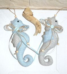 Tilda,2 Seepferdchen,maritim,Sommer    eBay