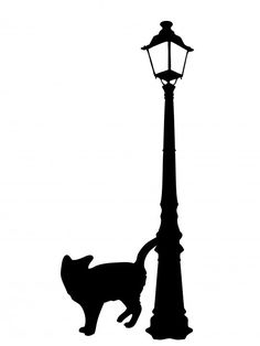 Black Cat Silhouette Clipart  #public domain photo