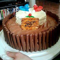 Vogelhochzeit; Kuchen für ein Hochzeitsbuffet.
