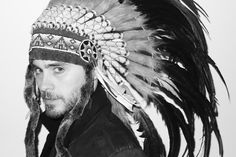 Jared. Headdress. Flawless. Seriously.