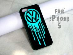 tiffany painting vw logo drip - design case for iphone 5 | shayutiaccessories - Accessories on ArtFire