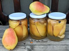 Compot de pere reteta simpla Cata, Cantaloupe, Peach, Stevia, Sticks, Food, Canning, Recipes, Peaches