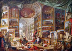 Giovanni Paolo Pannini, Gallery of Views of Ancient Rome, 1758, oil on canvas, Paris, Musée du Louvre.