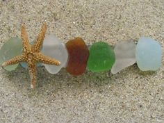 Sea Glass in Hair for beach wedding! I am so making this with my Michigan beach glass :)