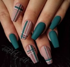 art easy garden decor nail Cute Nail Designs for Every Nail – Nail Art Ideas to Try. No matter the occasion, try one of the 50 cute nail designs below 💅 1 of 50 Nail Art Design für den Herbst # fashionminis … – Nails – … Summer Acrylic Nails, Best Acrylic Nails, Matte Nail Art, New Nail Art, Summer Nails, Plaid Nails, Swag Nails, Plaid Nail Art, Striped Nails