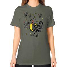 Roseanne Chicken Unisex T-Shirt (on woman)