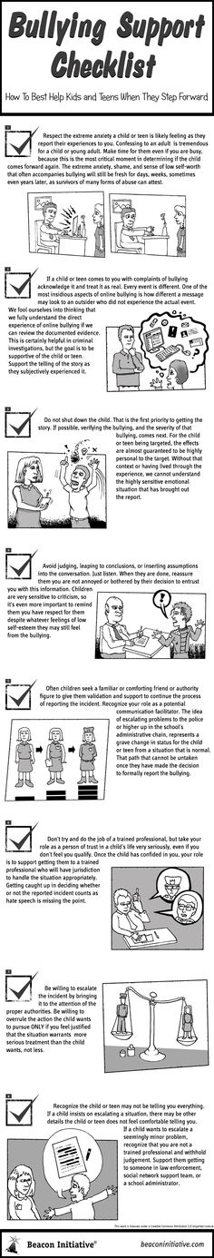 What to do in case of bullying - start with these 8 steps. From the free ebook 'What Parents and Educators Need to Know About Bullying Online' downloadable in pdf here: https://docs.google.com/open?id=0B12hDVIsQNj7N2FCWXlmU2JsLVE or you can purchase prints from https://beaconinitiative.com/shop.htm