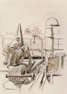 ART & ARTISTS: Thomas Hart Benton - part 4 WWII Submarine Museum, American Realism, Grant Wood, Social Realism, Ink Wash, Submarines, Printmaking, Wwii, Illustrators