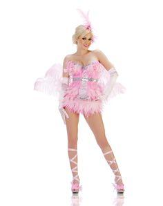 from spirithalloweencom showgirl flamingo adult womens costume