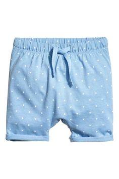 Трикотажные шорты - Голубой/Звезды - Дети | H&M RU 1
