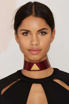 Milanna Alma Leather Choker - Jewelry