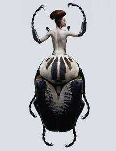 Photographism- ~ Laurent Seroussi ~an attempt to combat the stereotype that women are afraid of insects?