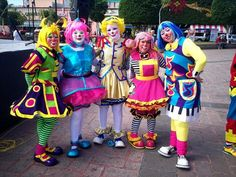 Group of female clowns
