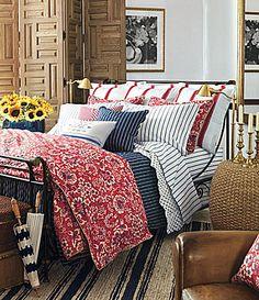 Ralph Lauren Bedroom #bedding #quilt #country Bedroom Red, Bedroom Decor, Master Bedroom, Upstairs Bedroom, Guest Bedrooms, Cottage Bedrooms, Country Bedrooms, Guest Room, Ideas Hogar