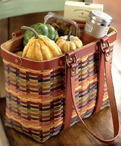 Bright Multi-Color Village Basket