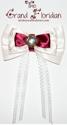 A medium inches) hair bow inspired by the elegance of Walt Disney Worlds Grand Floridian Resort. Choose your clip type using the drop down How To Tie Ribbon, How To Make Bows, Disney Hair Bows, Bow Shop, Christmas Ornament Crafts, Disney Crafts, Ribbon Crafts, Handmade Accessories, Diy Hairstyles