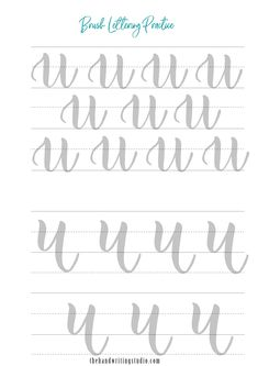 Brush Lettering Worksheets, Lowercase and Uppercase lettering Worksheets, Brush Calligraphy Printable Brush Lettering Worksheet, Calligraphy Worksheet, Lettering Guide, Hand Lettering Art, Hand Lettering Practice, Hand Lettering Tutorial, Calligraphy Practice, Modern Calligraphy, Lettering Design