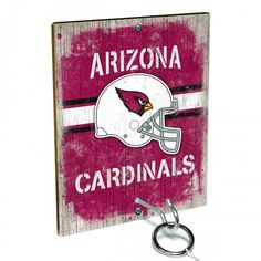 Team Toss for Arizona Cardinals fans from Team ProMark is a fun and addictive game that's easy to learn but difficult to master. Toss the ring on the eye hook and score a point. The vintage team board designs make a great addition to any fan cave or game room wall. Play individually or pair up for teams while the gang is over watching the game.