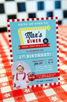 50's Diner Soda Shop Retro Birthday Party Birthday Party Ideas | Photo 1 of 32