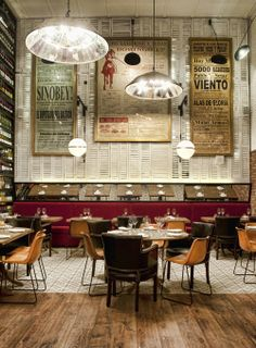 Ibérica Canary Wharf | London #shop #oversized #posters #wine #shutters #restaurant #cafe