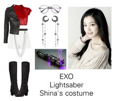 """Shina's costume for Lightsaber"" by pantsulord on Polyvore featuring River Island, N°21, Alyx and IRO"
