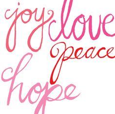 joy love peace hope