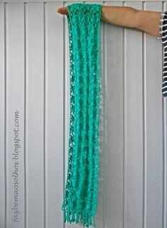 Faz bem aos olhos   Crochet - Crafts - Lifestyle: Écharpe de Verão # parte 2