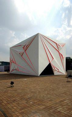 spektakuläre Gebäude Designs origami originell weiß fassade