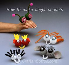 How to make finger puppets Maybe part of a babysitters kit for the older girls!