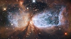 """Hubble Space Telescope has delivered an amazing view of a cosmic event that is being called the """"Holiday Snow Angel."""""""