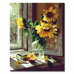 Digital Sunflower Paint by numbers DIY Painting