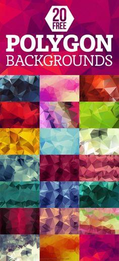 20 Free Geometric Polygon Backgrounds