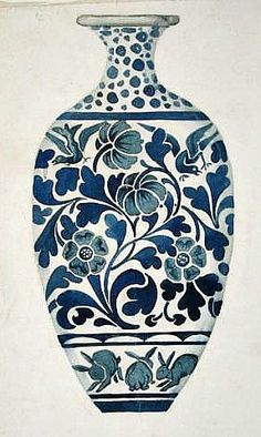still life quick heart — Morris & Co. Design for a Vase century Blue Pottery, Pottery Art, Pottery Painting Designs, Morris, Blue And White China, White Vases, Arts And Crafts Movement, Ceramic Painting, Islamic Art