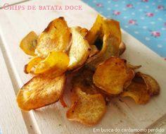 Em busca do cardamomo perdido  Sweet potato chips  Chips de batata doce