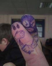 Finger mugging (found on Facebook)