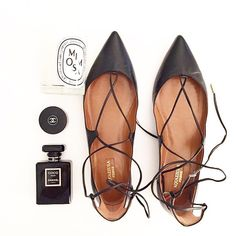 Obsessed with these Aquazurra flats! Post Via @krystalschlegel