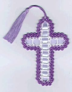 dainty crochet patterns | our petite and dainty crochet cross is worked in white and edged with ...