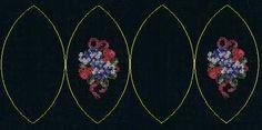 """Милые сердцу штучки: рукоделие, декор и многое другое: Новогодняя вышивка: """"Елочный шар из овальных лепестков"""""""
