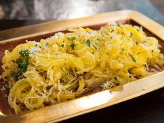 Roasted Spaghetti Squash with Parmigiano-Reggiano and Truffle Oil recipe from Guy Fieri via Food Network