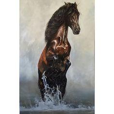 #oilpainting #artist #art #instaartist #instaartwork #splash #water #equineart #equineartist #equus Tony O'Connor Equine Art whitetreestudio.ie