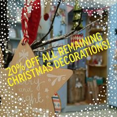 20% OFF ALL REMAINING CHRISTMAS DECORATIONS!