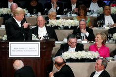 Clinton and Trump trade barbs at the annual Al Smith Catholic charities dinner October 20, the night after the heated final debate.
