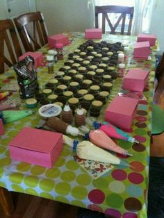 Great girls day idea! Create your own cupcakes...